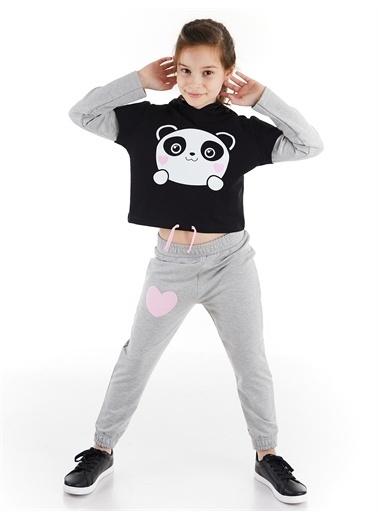 Denokids Minik Panda Kız Eşofman Takım Renkli